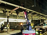 ホーム・線路拡幅工事、駅舎改良工事など